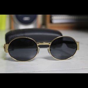 Other - Black Gianni Vintage Sunglasses Gold Finish